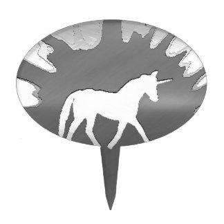plata del unicon del arte del metal decoraciones para tartas