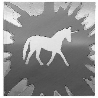 plata del unicon del arte del metal servilletas