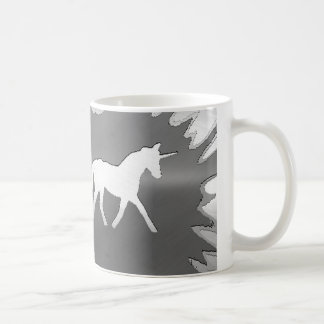 plata del unicon del arte del metal taza