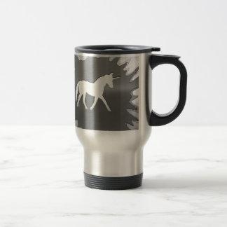 plata del unicon del arte del metal taza de café