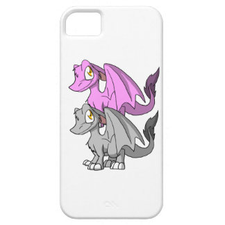 Plata/dragón peludo de Bubblegum SD Funda Para iPhone 5 Barely There