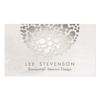 Plata elegante moderna y gris del interiorista tarjetas de visita