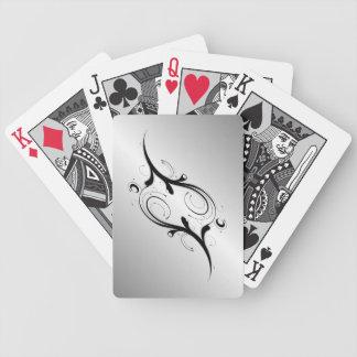 Plata embellecida barajas de cartas