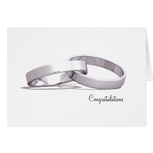 Plata entrelazada de los anillos - tarjetas de la