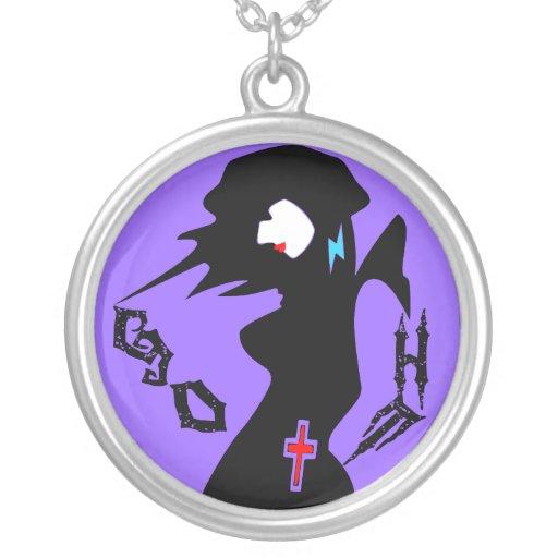 plata esterlina fresca Necklace♥╬ღ del chica del ღ Grimpola Personalizada