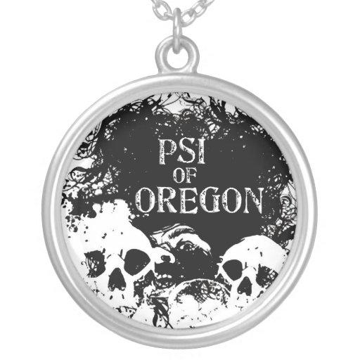 Plata esterlina PSI de Oregon Colgante Redondo