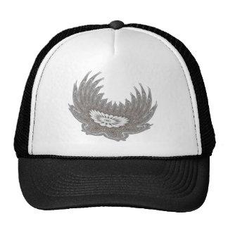 Plata floreciente de las alas gorras de camionero