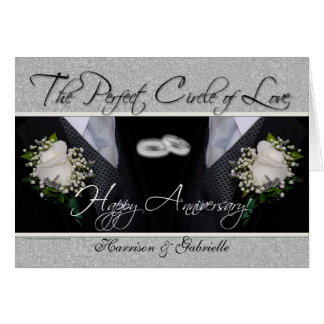 Plata gay y negro de la tarjeta del aniversario de