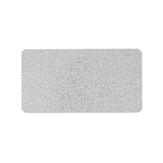 Plata grabada en relieve etiqueta de dirección