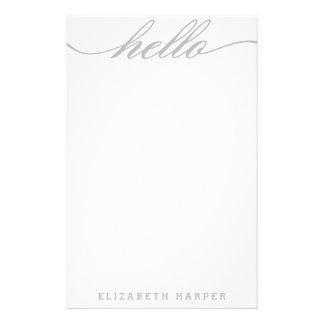 """Plata """"hola"""" efectos de escritorio personales papelería"""