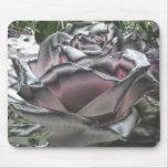 Plata imponente y mousepad color de rosa rosado tapetes de ratón