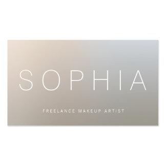 Plata luminosa moderna del artista de maquillaje tarjetas de visita