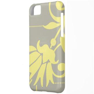 Plata/mantequilla botánicas - caso del compañero funda para iPhone 5C