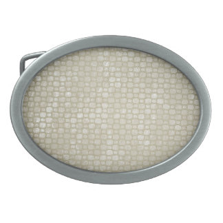 Plata martillada hebillas de cinturón ovales