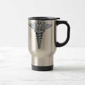 Plata médica del símbolo tazas