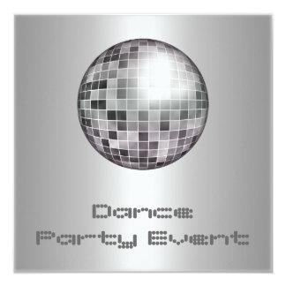 Plata Mirrorball del acontecimiento del baile Comunicados Personalizados