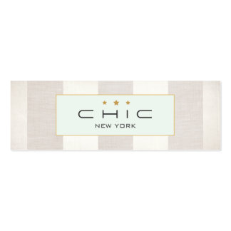 Plata moderna elegante y falso lino rayados plantillas de tarjetas de visita