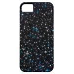 Plata negra del cielo nocturno y estrellas iPhone 5 Case-Mate cárcasa