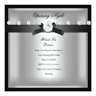 """Plata negra formal de apertura del negocio invitación 5.25"""" x 5.25"""""""