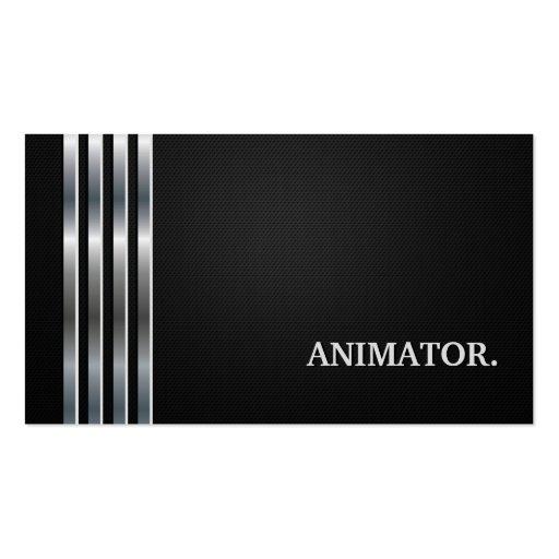 Plata negra profesional del animador de las multim plantillas de tarjetas personales