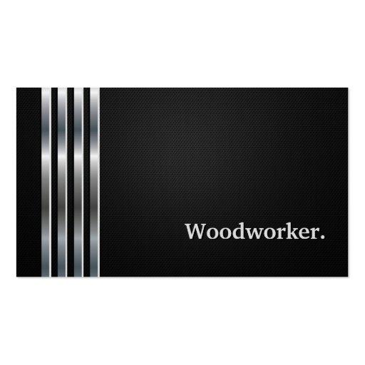 Plata negra profesional del carpintero tarjetas de visita