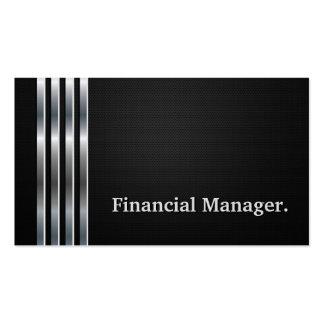 Plata negra profesional del encargado financiero tarjetas de visita
