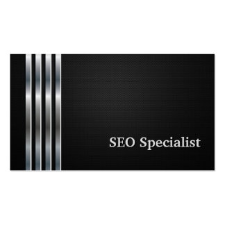 Plata negra profesional del especialista de SEO Tarjetas De Visita