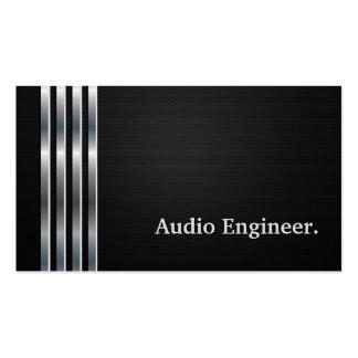 Plata negra profesional del ingeniero audio tarjetas de visita