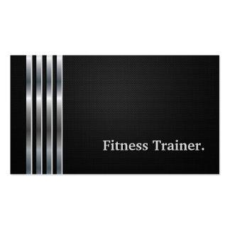 Plata negra profesional del instructor de la tarjetas de visita