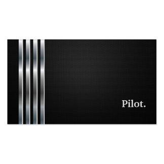 Plata negra profesional experimental tarjetas de visita
