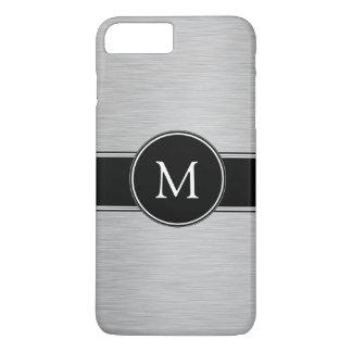 Plata, negro, blanco con su monograma funda iPhone 7 plus