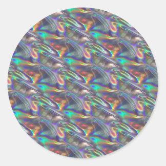 plata olográfica pegatina redonda