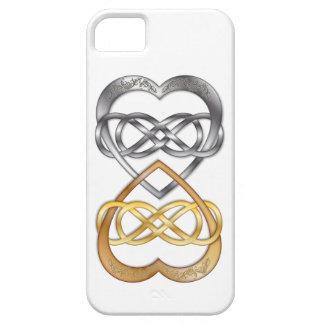 Plata/oro dobles entrelazados del infinito de los  iPhone 5 Case-Mate cárcasas