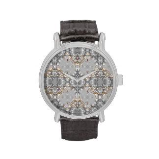 Plata - oro - reloj de lujo del diamante (falso) -