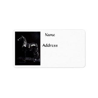 Plata oscura etiquetas de dirección