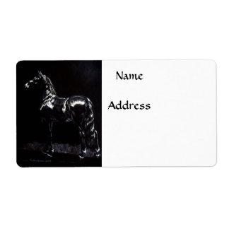 Plata oscura etiquetas de envío