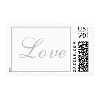 Plata perfecta del boda de la suposición del amor sello postal