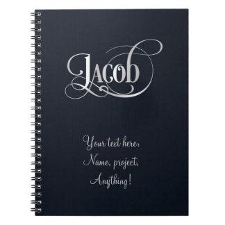 Plata personalizada de Jacob de la escritura de Sw Libreta Espiral