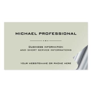 Plata profesional moderna de la caña de la tarjeta tarjetas de visita