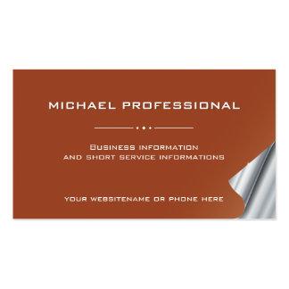 Plata profesional moderna del marrón de la tarjeta tarjetas de visita