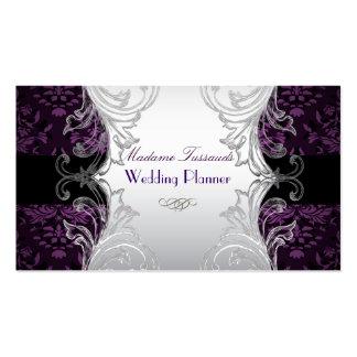 Plata/púrpura del damasco de las joyas de PixDezin Tarjeta Personal