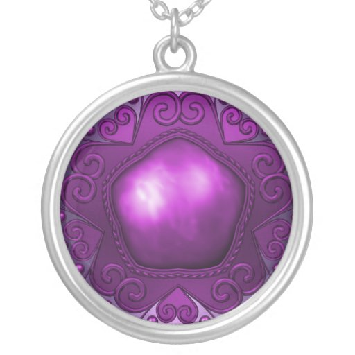 Plata púrpura Jewelled collar del amor
