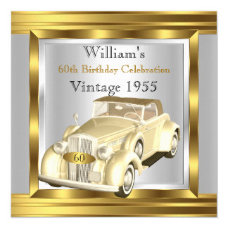 """Plata retra de la crema del oro de Gatsby Deco del Invitación 5.25"""" X 5.25"""""""