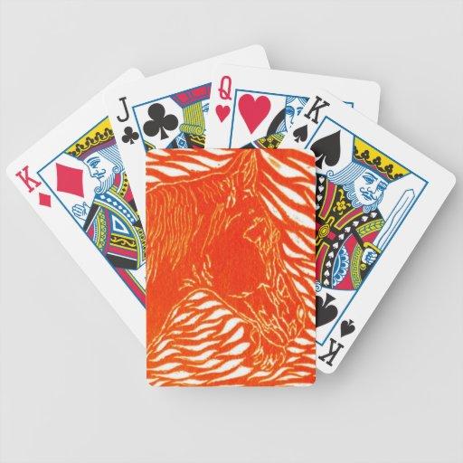 Plata roja cartas de juego