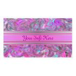 Plata rosada elegante y diseño Marbleized aguamari Tarjetas Personales