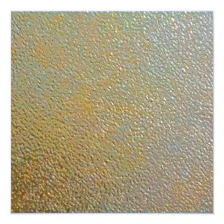 """Plata texturizada moderna lisa del oro del metal invitación 5.25"""" x 5.25"""""""