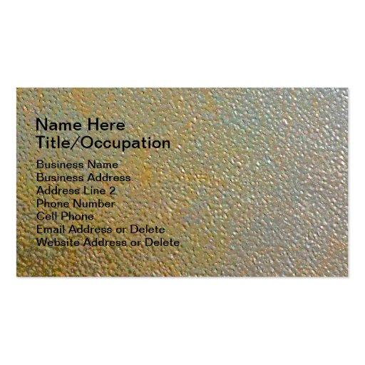 Plata texturizada moderna lisa del oro del metal tarjetas de visita