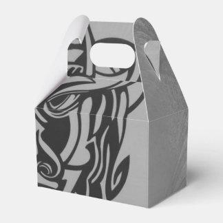 Plata tribal viciosa 007 escarchados de la máscara caja para regalos