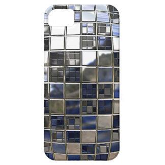 Plata y algunos espejos azules de la bola de disco iPhone 5 cárcasa