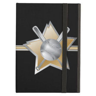 Plata y béisbol y estrella del oro